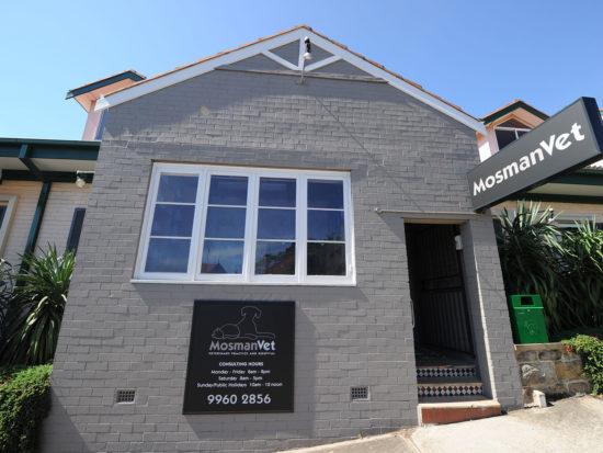 Exterior view of Mosman Vet in Sydney